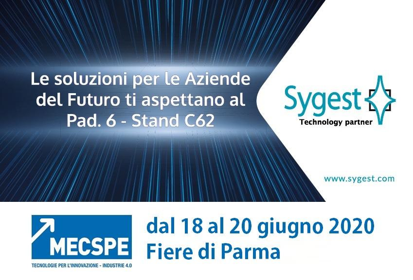 MECSPE 2020 - Industria 4.0 & Service Management | Sygest Srl