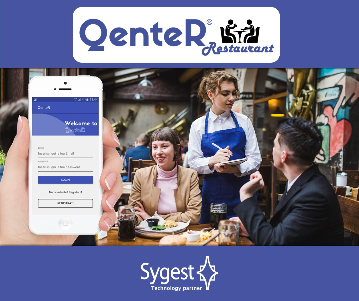 QenteR Restaurant - App prenotazione ristorante | Sygest Srl