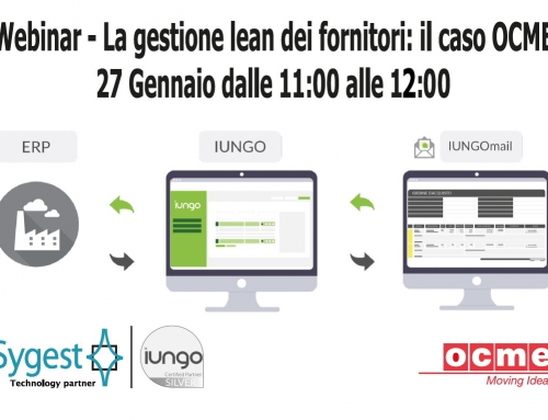 Webinar – La gestione lean dei fornitori: il caso OCME – 27 Gennaio dalle 11:00 alle 12:00